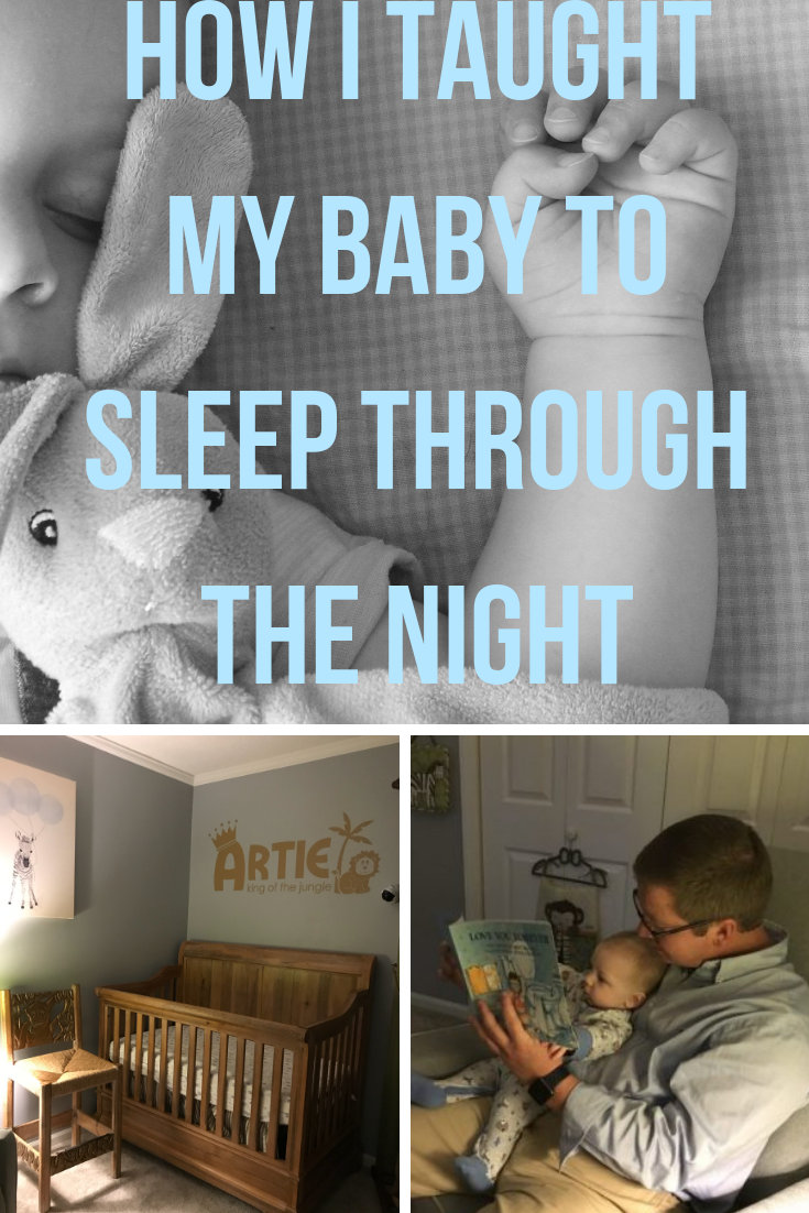 How I Taught My Baby To Sleep Through The Night
