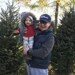 Baby's first christmas traditions, choosing a tree with Dad!